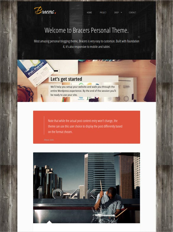 foundation minimal blog wordpress theme
