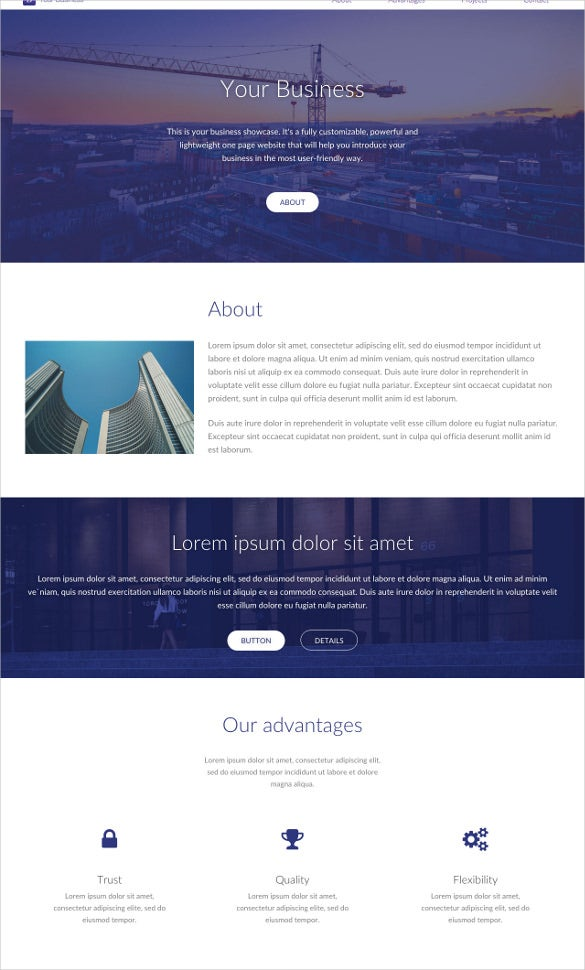 foundation website template