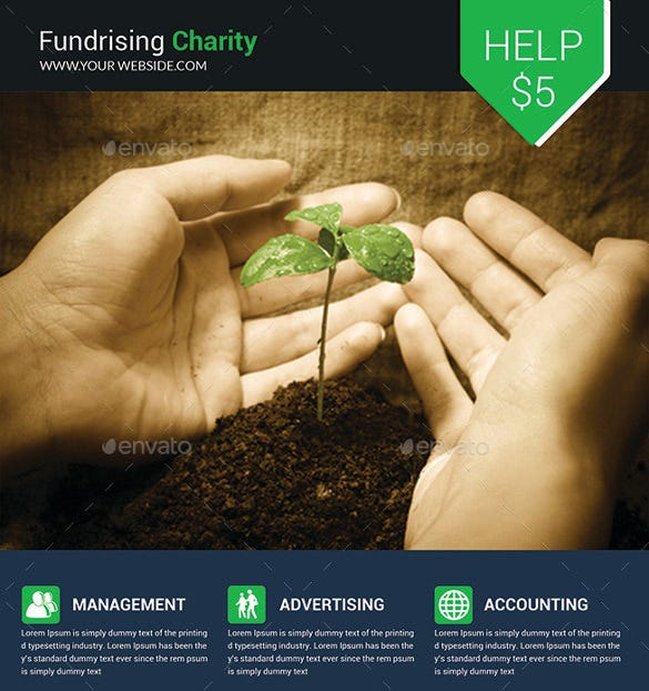 eiditable charity fundrising flyer template