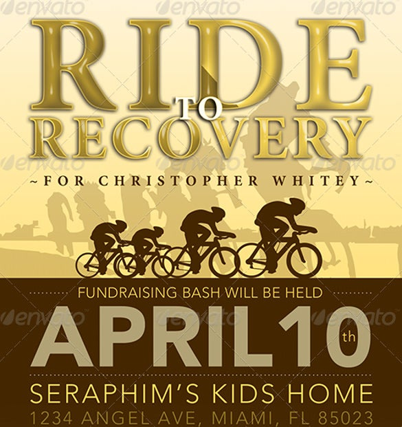 ride to recovery fundraiser flyer template