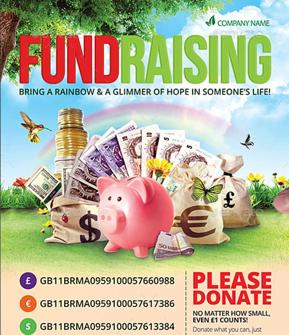 school fundraiser flyer templates