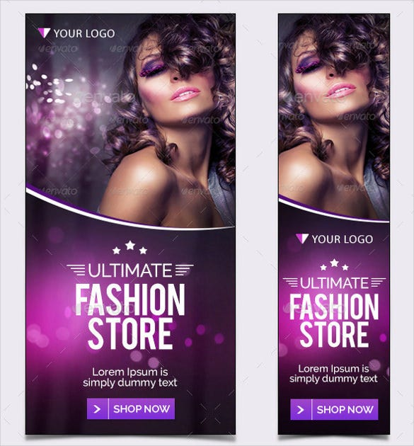 fashion sample banner design template