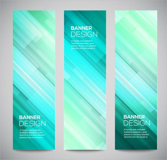 glowing sample banner design template
