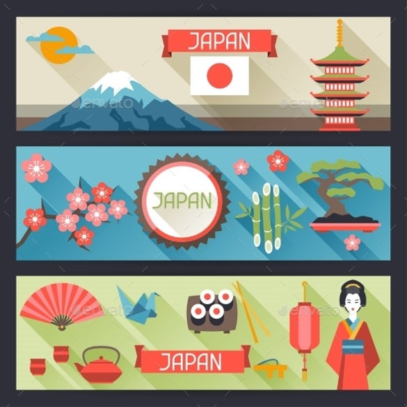 japanese sample banner design template