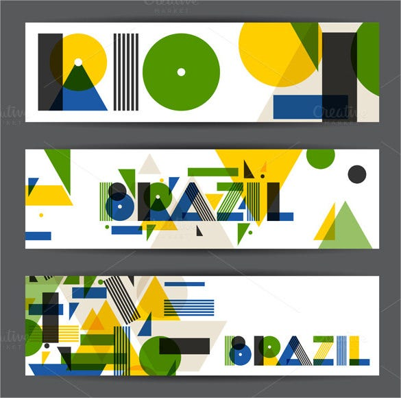 brazilian sample banner design template