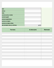 Estate Contents Inventory List in Excel