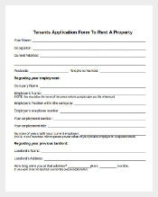 Tenants Application Form To Rent A Property Document
