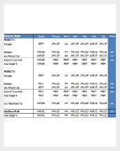 Retail Sales Profit and Loss Reporting Inventory Template Template