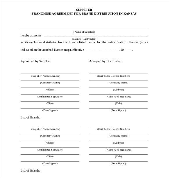 Franchise Agreement Template   Free Word Pdf Documents Download