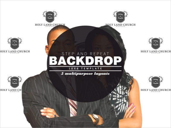 auction step and repeat sample banner template