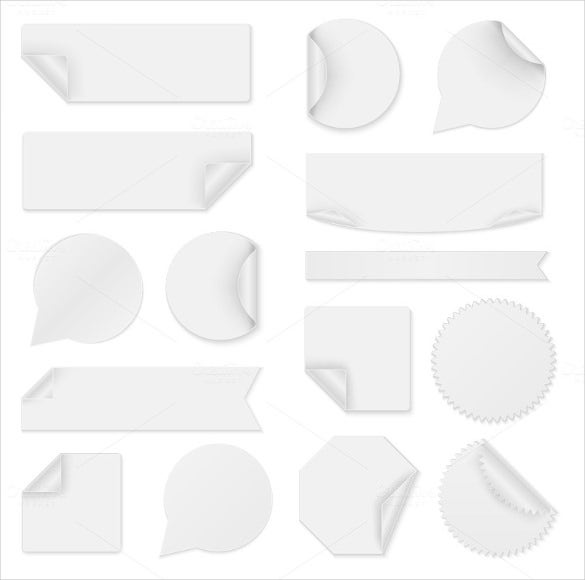 blank white bookmark templates