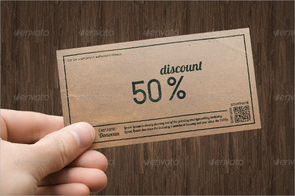 format voucher certificate or coupon template