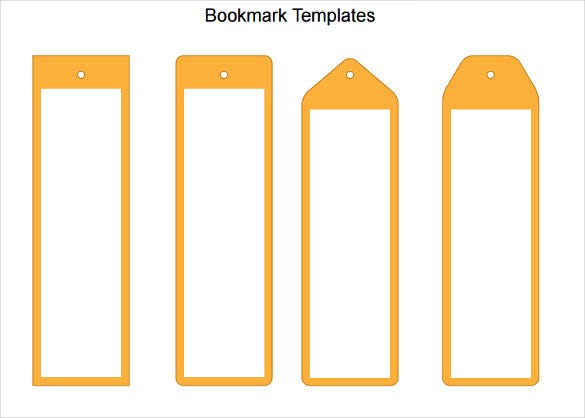 Blank Bookmark Templates  Free Sample Example Format
