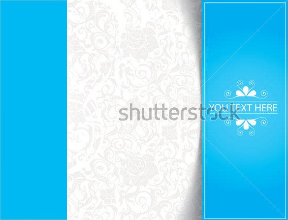 blue color blank bookmark template download