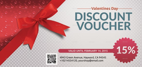 Superior Sample Beautiful Valentines Discount Coupon Voucher Template Inside Discount Coupons Templates
