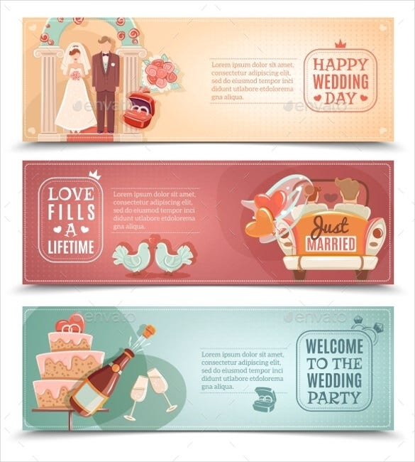 decorative wedding sample banner template