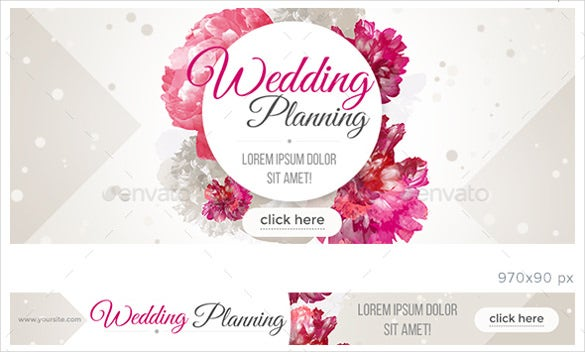 bride wedding sample banner template