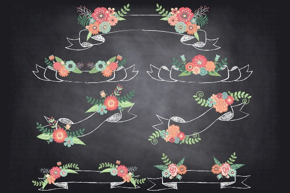 chalkboard wedding sample banner template