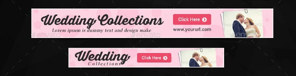 designed sample wedding banner template