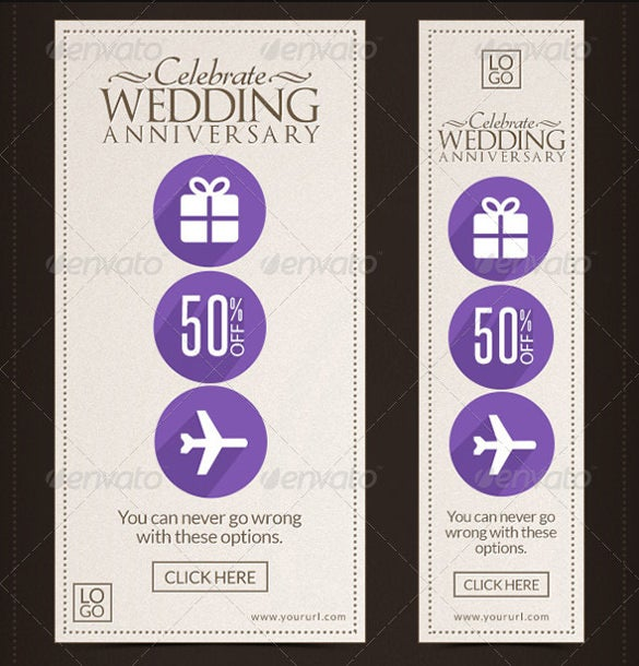 marketing wedding sample banner template