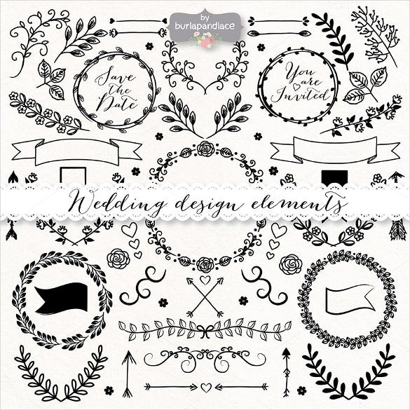 hand drawn wedding sample banner template