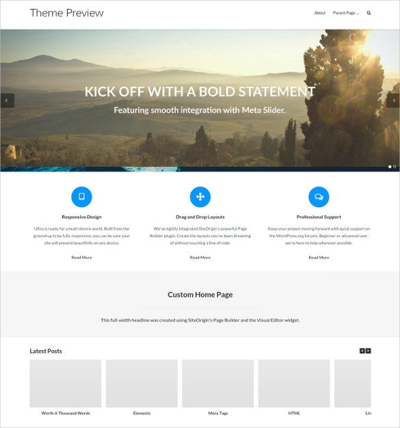 free powwerful multi purpose wordpress theme