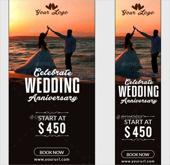 animated wedding sample banner template