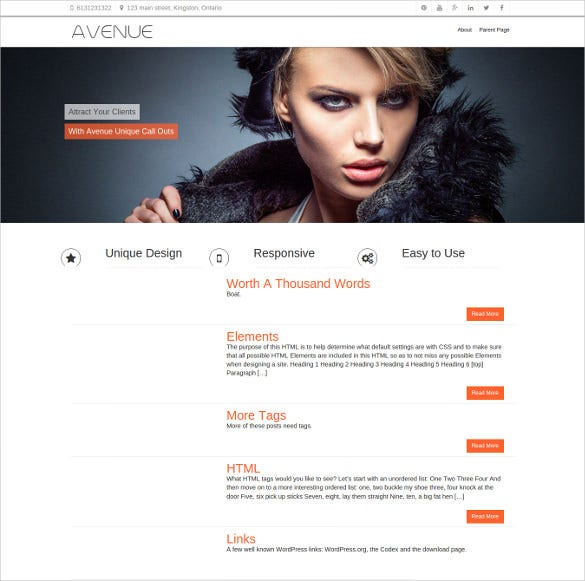 responsive free business wordpres template