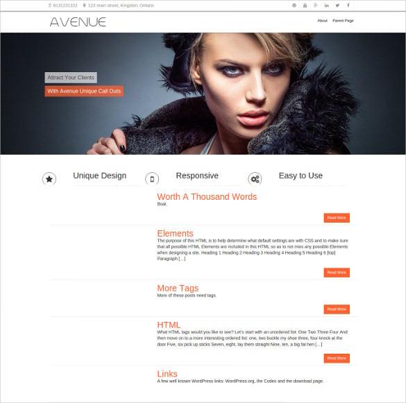responsive free business wordpres template