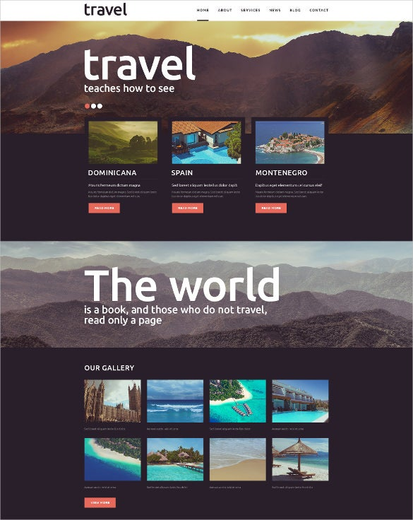 responsive travel spot joomla html5 website template