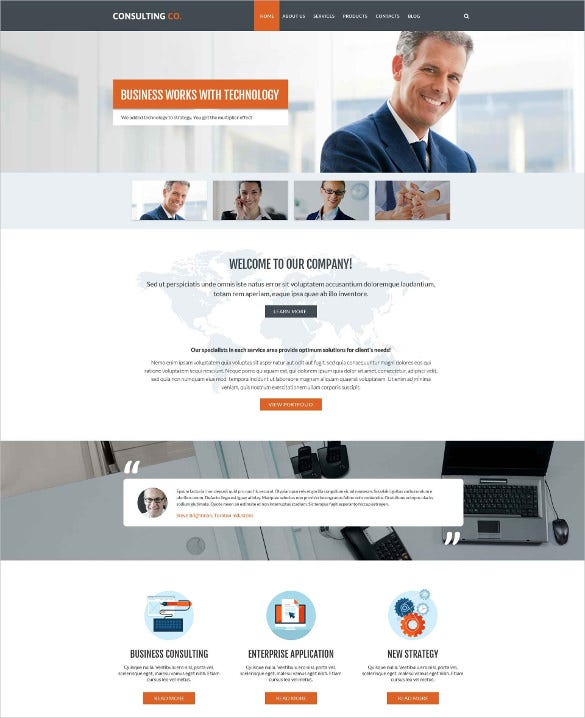 business responsive drupal website html5 template