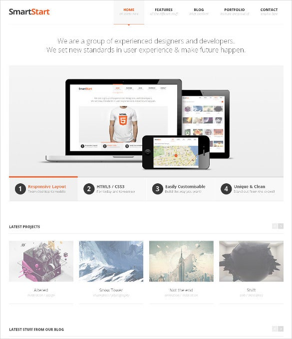 professional responsive html5 website template