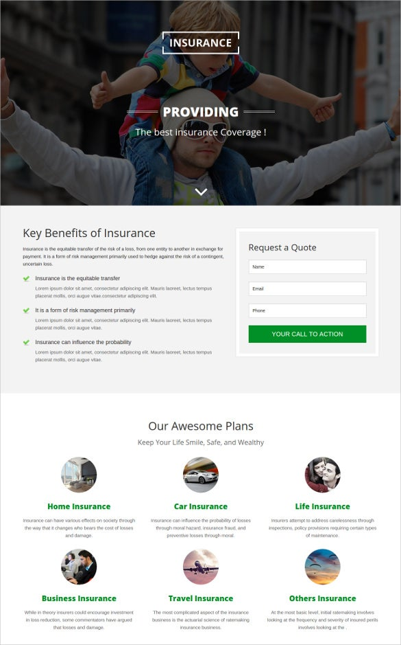 insurance responsive html5 website template