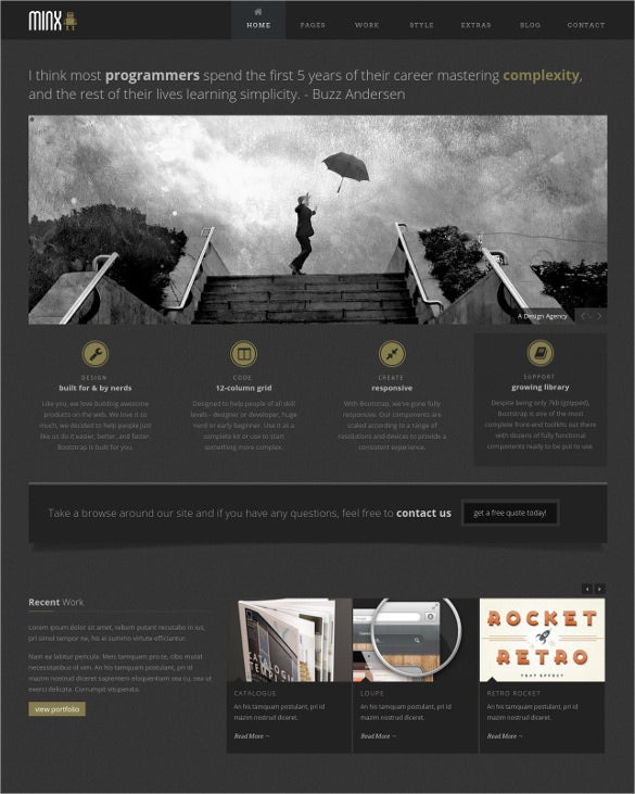 responsive portfolio html5 website template