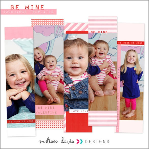 baby photo bookmark template download
