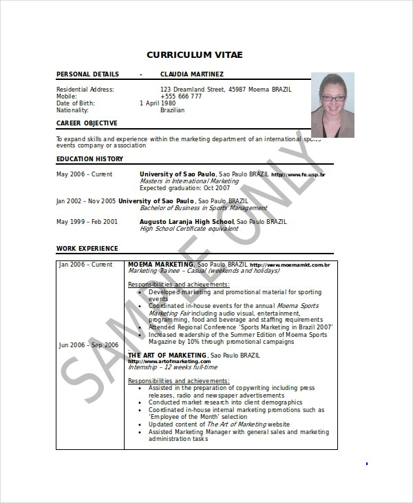 Marketing Coordinator Resume Template - 5+ Free Word, Documents