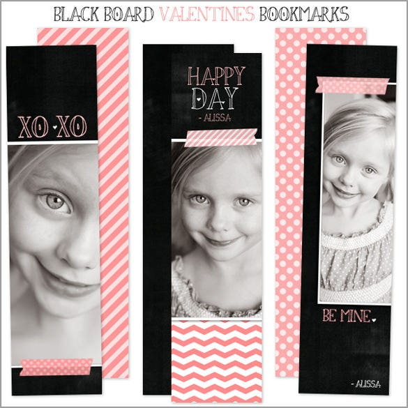 photo bookmark template ready to edit