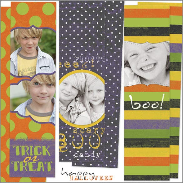 set of photo bookmark templates