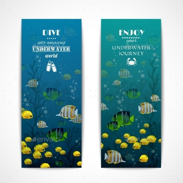 ocean sample vertical banner template