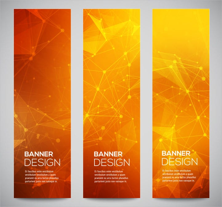 abstract sample vertical banner template