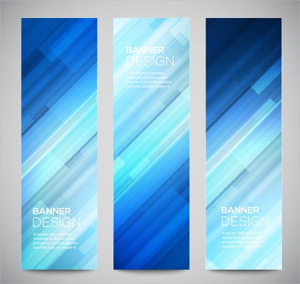 geometry vertical sample banner template