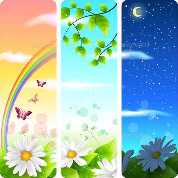 spring sample vertical banner template