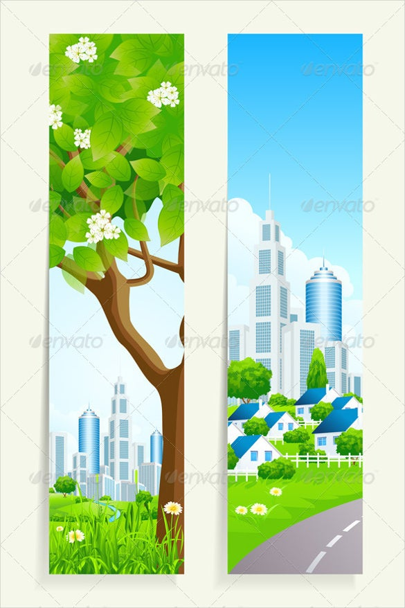 cityscape sample vertical banner tamplate
