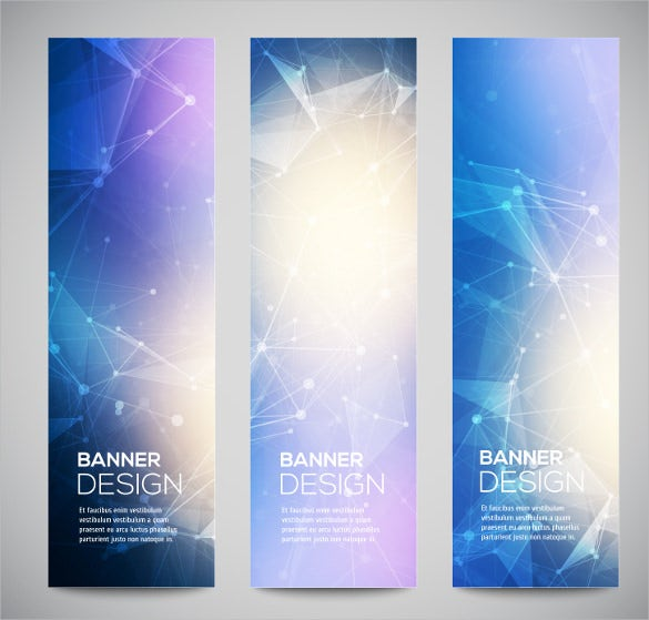 bright sample vertical banner template