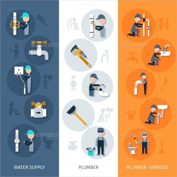 plumber sample vertical banner template