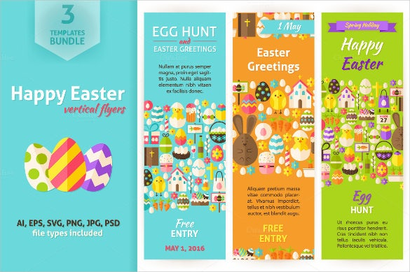 easter sample vertical banner template