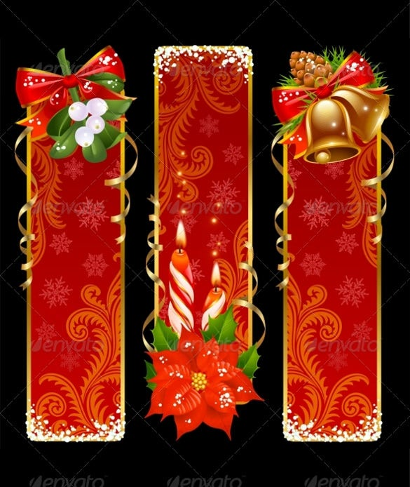 christmas sample vertical banner template