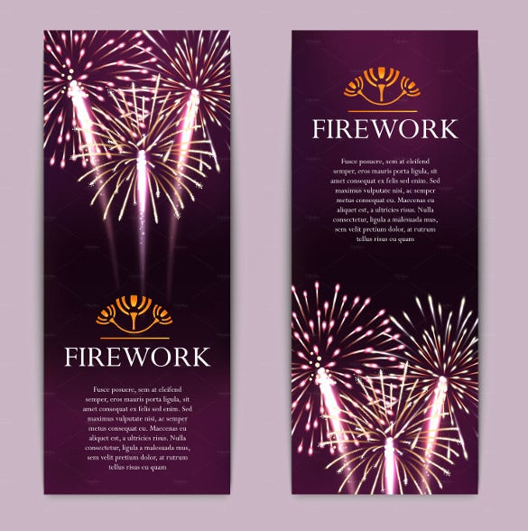 fireworks sample vertical banner template