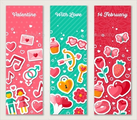 valentine sample vertical banner template
