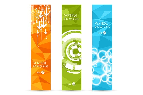 colorful sample vertical banner template